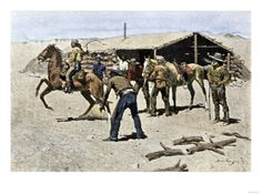 Pony Express Rider Changing Horses Giclee Print