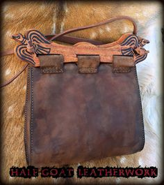 Viking Raven Bag by HalfGoatLeatherwork on Etsy