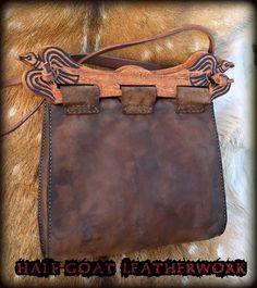 Viking Raven Bag by HalfGoatLeatherwork on Etsy