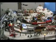 Christmas village with Lionel layout