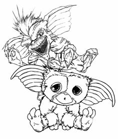 gremlins coloring pages  Bing Images  Colouring pictures