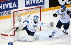 Finland's goalie Petri Vehanen makes a glove save d in the quarterfinal match USA vs Finland of the 2012 IIHF Ice Hockey World Championships in Helsinki on Thursday, May, Hockey World, Face Off, World Championship, Ice Hockey, Helsinki, Glove, Finland, Nhl
