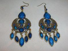 Roylal blue chandalier earrings $9.95
