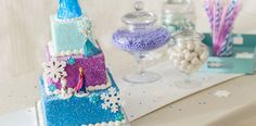 Add winter sparkle to an impressive Frozen birthday cake that's simpler to make than it looks.