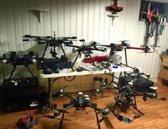 Servicing rigs for the season. One by one they are getting in fighting shape for 2016. You got a camera you want to fly? Want us to fly one of ours? We got chu meing! #airheadmedia #dji  #hexacrafter #inspire1pro #gh4 #sonya7ii  #bmpcc #c100 #redepic #arri #aerialvideo #cinematography by sleepyc