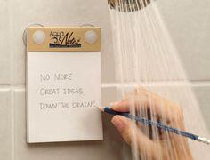 waterproof shower notepads...