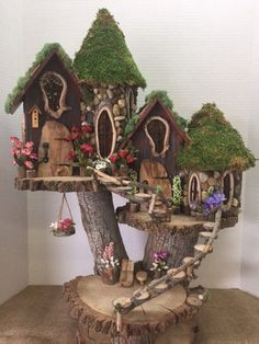 If you are looking for Diy Fairy Garden Design Ideas, You come to the right place. Here are the Diy Fairy Garden Design Ideas. This article about Diy Fai. Garden Tree House, Fairy Tree Houses, Fairy Garden Houses, Garden Trees, Garden Gazebo, Fairy Village, Diy Fairy House, Diy Fairy Garden, Gnome Garden