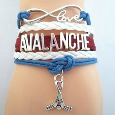 Infinity Love Colorado Avalanche Hockey - Show off your teams colors! Cutest Love Colorado Avalanche Bracelet on the Planet! Don't miss our Special Sales Event. Many teams available. www.DilyDalee.co