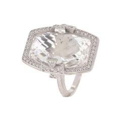 Jude Frances Couture 18 Karat White Gold White Topaz & Diamond Jude Maltese Ring