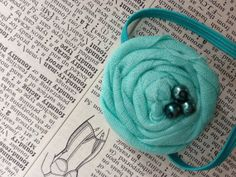 Mint Ponytail Holder for Spring by TheCraftyEuropean on Etsy, $5.00