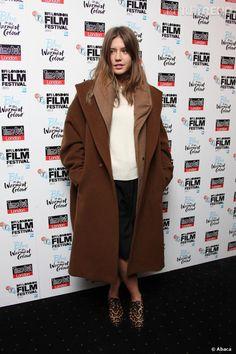 """Adèle Exarchopoulos à la première de """"La vie d'Adèle"""" à Londres."""