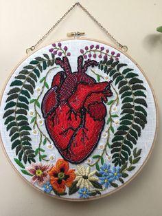 embroidery Beaded heart | Tessa Perlow