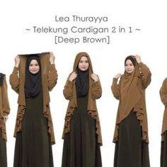 Telekung Cardigan Lea Thurayya 2in1 Deep Brown