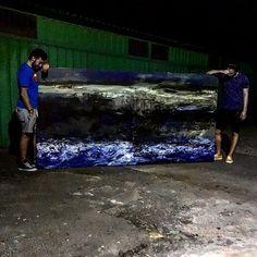 #bucharestbynight #atelierbogdanmihairadu #marine #blue #art #mywork #mystudio #moments #modernart #life #loveart #colors #painter #painting #arhitecture #artwork #art🎨 #searching #textures #like4like #bucharest #atelier #oilpainting #myfriend #motivation Painter, Art, Modern Art