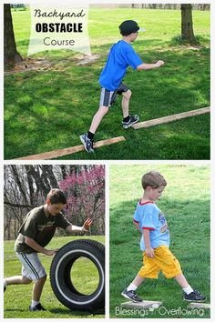 If you need something to keep the kids entertained this summer that doesn't cost any money I highly recommend setting up a backyard obstacle course with things you have on hand.