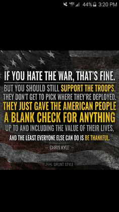 American Hero Chris Kyle quote ❤                              …