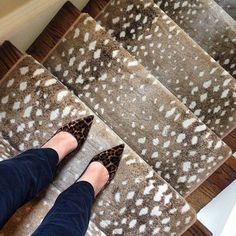 Antelope stair runner (and leopard shoes to boot!) | How to Decorate with Animal Prints