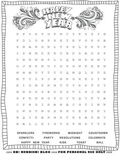 new years printable activities entertain your kids with 4 new word