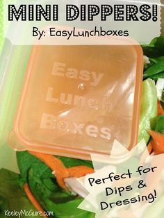 New EasyLunchboxes Mini-Dippers! Perfect for school or work lunch, dips and dressing!