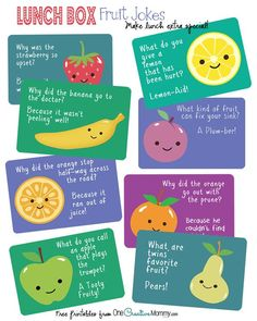 Lunch Box Jokes for Back to School! {OneCreativeMommy.com}
