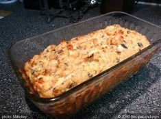 Great Salmon Loaf Recipe Exchange bread crums with oatmeal and Milk with Yogurt butter with olive oil use parm instead of cheddar ! Canned Salmon Recipes, Loaf Recipes, Entree Recipes, Fish Recipes, Seafood Recipes, Baking Recipes, Fish Dishes, Seafood Dishes, Main Dishes