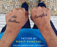 Tattoo by Rohit Panchal Name Tattoos, Tattoo Quotes, Father, Marvel, Names, Pai, Dads, Inspiration Tattoos, Quote Tattoos