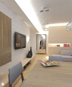 Salon - Styl Skandynawski - Art Studio Pracownia Architektury i Wnetrz