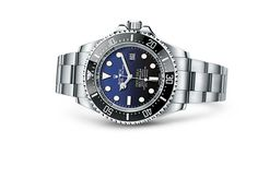 Discover the Rolex Deepsea D-blue dial watch in 904L steel, case back in grade 5 titanium on the Official Rolex Website. Model: 116660