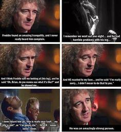 Brian May talks about Freddie Mercury