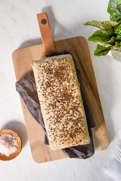 A soft and spongy Gluten Free Buckwheat Millet Bread, with flax and rosemary. Simple to make, and stays soft on the counter for days. Vegan.