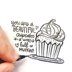 A beautiful cupcake in a world of muffins