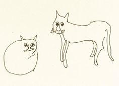 Felines An untitled illustration of two cats by John Lennon. Estimate: $5,000-7,000.