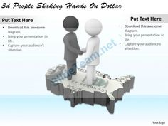 1113 3D People Shaking Hands on Dollar Ppt Graphics Icons Powerpoint #Powerpoint #Templates #Infographics