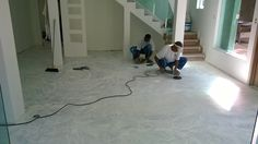 execução de polimento, para pintura de Piso Epóxi Residencial.