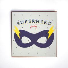 8 cartes d'invitation anniversaire super-héros