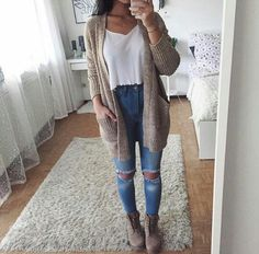 Imagen de fashion, outfit, and cardigan Teenage Outfits, Outfits For Teens, New Outfits, Fashion Outfits, Ootd Fashion, Style Fashion, Cute Cheap Dresses, Lorie, 1920s Fashion Dresses