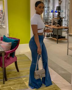 Beautiful Casual Outfit for Weekend - Outfits Swag Outfits, Dope Outfits, Stylish Outfits, Girl Outfits, Fashion Outfits, Black Girl Fashion, Look Fashion, Black Girl Style, 80s Fashion