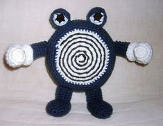 Despite the fact I know his swirl is backwards, here's my version of Poliwh… Despite the fact I know his swirl is backwards, here's my version of Poliwh… – Pokemon Crochet – Pokemon Crochet Pattern, Pikachu Crochet, Crochet Toys Patterns, Amigurumi Patterns, Stuffed Toys Patterns, Doll Patterns, Amigurumi Tutorial, Amigurumi Doll, Crochet Cross