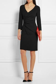 Black stretch-jersey Concealed hook and zip fastening at back 63% polyester, 27% viscose, 7% cotton, 3% elastane; lining: 84% polyester, 16% spandex  Dry clean  Imported