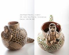 Juan-Miguel Morales, ceramist, Tzintzuntzan, Michoacan, Mexico