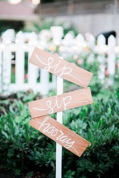 Sip sip hooray wooden weddings signs