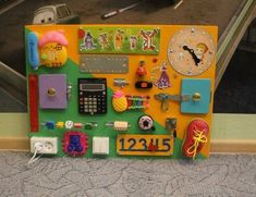 Items similar to Busy board, Motorikspielzeug, activity board, wooden toys on Etsy Infant Lesson Plans, Preschool Lesson Plans, Dementia Activities, Montessori Activities, Sensory Boards, Sensory Wall, Sensory Toys, Latch Board, Fidget Blankets