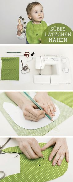 Oster-Anleitung: Niedliches Lätzchen mit Ostermotiv nähen, Osterhase / easter sewing tutorial: easter bunny bib via DaWanda.com