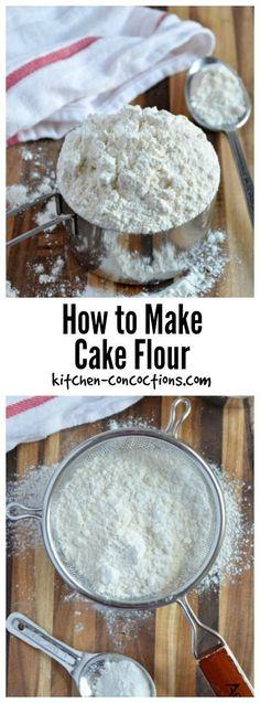 How to make homemade cake flour CakeWhiz Recipes to try
