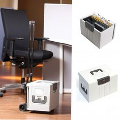 Portable Personal HotBox Office Storage by Lesco  is great for keeping important files close and secure under a combination locking lid and has a good and functional size, taking in files and laptops