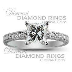 3 Stage Diamond Princess Cut Engagement Rings And Diamond Wedding Bands 27