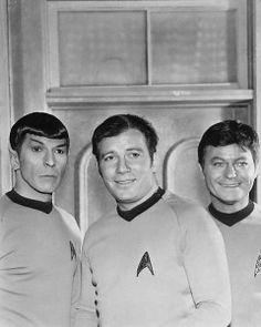 """1969 Original Photo STAR TREK CAST – Spock, Kirk and McCoy ! The actual STARS of the show. even though one of the """"supporting"""" actors would love to refute that (ahem. Star Trek Original Series, Star Trek Series, Spock And Kirk, Tv Movie, Movies, Star Trek Cast, Star Trek 1966, Star Trek Images, Leonard Nimoy"""