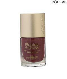 Loreal Paris Resist & Shine Titanium Nail Color for long lasting shine. http://www.snapdeal.com/product/loreal-paris-resist-shine-titanium/197343?utm_source=Fbpost_campaign=Delhi_content=276609_medium=270912_term=Prod