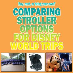 Comparing stroller options for Disney World trips  - including a big spreadsheet with data on lots of stroller rental companies