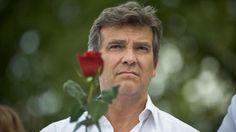 France. L'ex-ministre de l'Economie Arnaud Montebourg, lors de la Fête de la Rose à Frangy-en-Bresse (Saône-et-Loire), le 24 août 2014. | NICOLAS MESSYASZ / SIPA